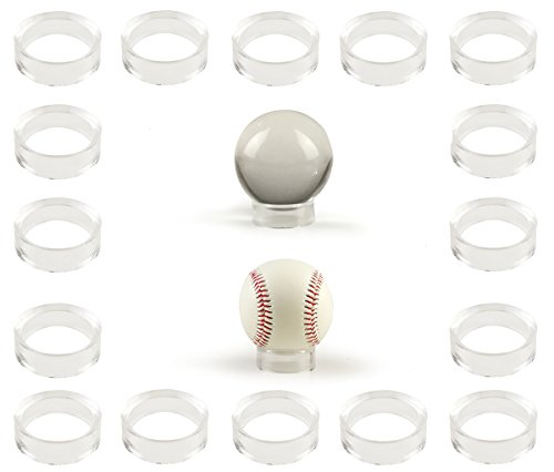 20 pcs Large Acrylic Clear Baseball Stands 1-5/8