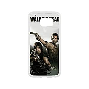 Samsung Galaxy S6 Case with Walking Dead Daryl Dixon Design White&Black Case(Plastic and TPU)