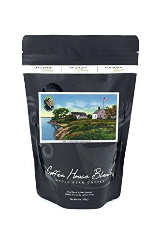 Bean Casco Bay - Portland, ME - Pearl of Orr's Island House of Harriet Beecher Stowe, Casco Bay (8oz Whole Bean Small Batch Artisan Coffee - Bold & Strong Medium Dark Roast w/Artwork)