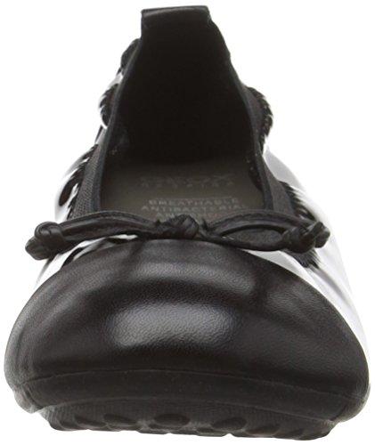 Geox J Piuma bal.f, Bailarinas Para Niñas Schwarz (BLACKC9999)