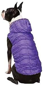 East Side Collection Vibrant Leopard Reversible Pet Vest, X-Small, Ultra Violet