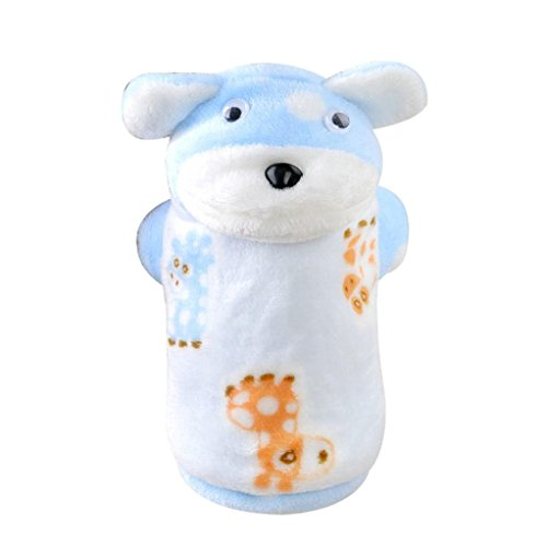 [DEESEE(TM) Pet Puppy Warm Winter Soft Cotton Hoodie Jumpsuit Coat Clothes Outwear (S, Blue)] (Pictures Of Pikachu Costumes)