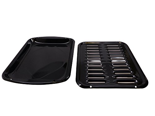 General Electric WB48X10056 Large Broiler Pan and Rack, 12-3/4 x (Oven Broiler Pan)