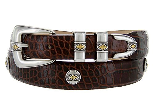Golden Diamond- Men's Genuine Italian Calfskin Embossed Designer Golf Dress Belt