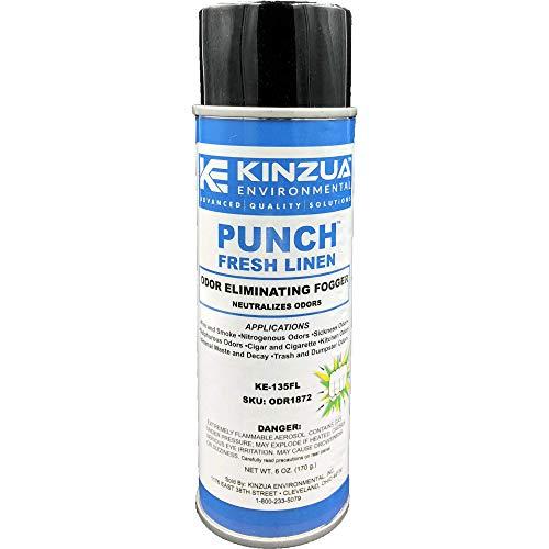 Punch-Fresh Linen (6 oz) | Odor Bomb, Fogger | Eliminates Cigarette Smoke Odor, Marijuana, Cigars, Pet Odors, Urine & More | Fresh Scent | Commercial-Strength (6 oz/Can)