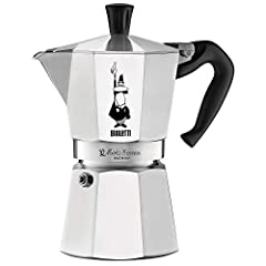 This Bialetti Espresso maker is the original and best way to make authentic espresso coffee in your home. This model makes 6, 2-ounce cups of delicious coffee.
