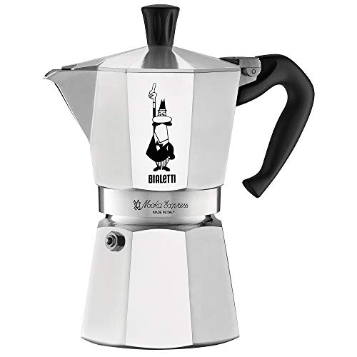 Bialetti 06800 Moka stove top coffee maker, 6 -Cup, Aluminum ()