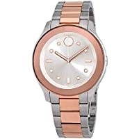 Movado Bold Silver Dial Two-tone Women's Watch