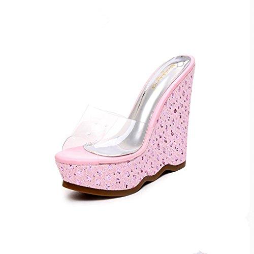 Bailing Dames Zomer Slippers / Sleehak Waterdicht / Dikke Bodem / Sexy Kleine Dames Sandalen Schoenen Roze