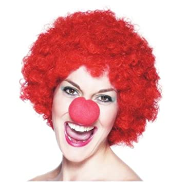 comic relief red nose day wig amazon co uk toys games
