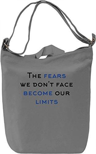 No Limits Borsa Giornaliera Canvas Canvas Day Bag| 100% Premium Cotton Canvas| DTG Printing|