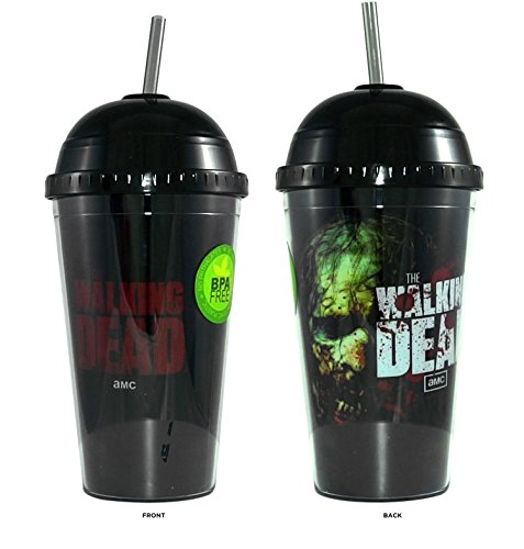 AMC The Walking Dead BITERS Tumbler Travel Cup, 16 OZ, BPA Free with DOME Shape Lid