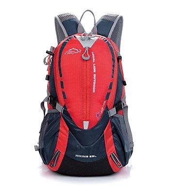 ZHUDJ 25 L Zaino Alpinismo Caccia Sport Per Il Tempo Libero Escursioni In Bicicletta/Bike School Camping & Escursioni Travelingwaterproof Rain-Proof Waterproof Zipper,Rosso