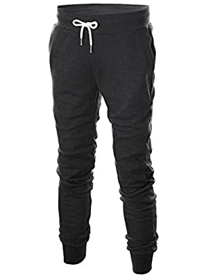 Ohoo Mens Slim Fit Lightweight Training Active Sweatpant