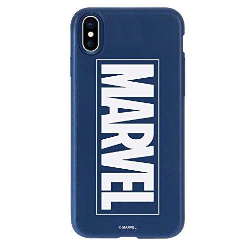 教えだらしない本土MARVEL マーベル iPhoneXS iPhoneX ケース MARVEL マーベル 衝撃吸収 TPU カバー ソフトケース (iPhoneX/XS, ネイビー) [並行輸入品]