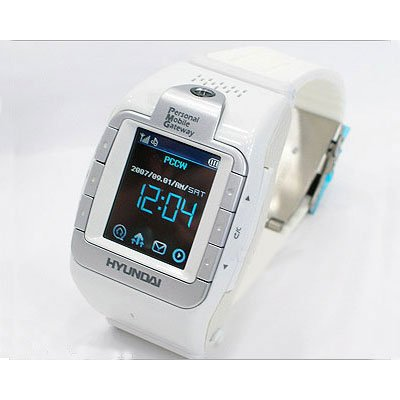 Hyundai W100 Triband Touch Screen Watch Unlocked Phone White - International Version No (White Triband Phone)