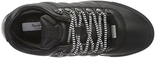 Pepe Jeans Marion Trecking, Baskets Basses Femme Noir (Black 999)
