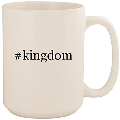 #kingdom - White Hashtag 15oz Ceramic Coffee Mug Cup]()