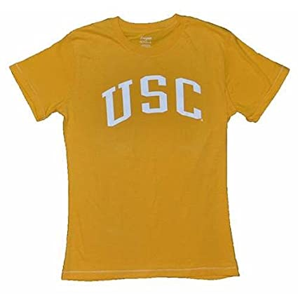 Amazon.com   Usc Trojans Ladies T-shirt - Yellow - Junior Women - XL ... 1050ea9bf6