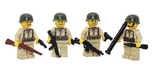 (Modern Brick Warfare US Army American WW2 Soldiers Squad Custom Minifigure)