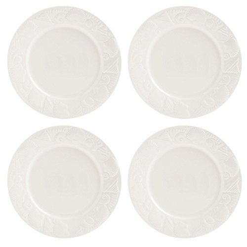 Lido Dinner (Pfaltzgraff Lido Beach Shell Embossed Cream Ceramic Dinner Plates, Set of 4)