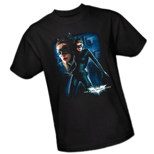Catwoman -- The Dark Knight Rises Adult T-Shirt, Large (Catwoman From The Dark Knight Rises)