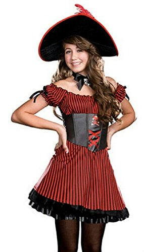 Captain Cutie Girls Pirate Costumes (Junior's Captain Cutie Patooty Girls Costume Size Small)