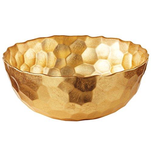 Elegance Odessa Gold Glass Bowl, 7.5-Inch