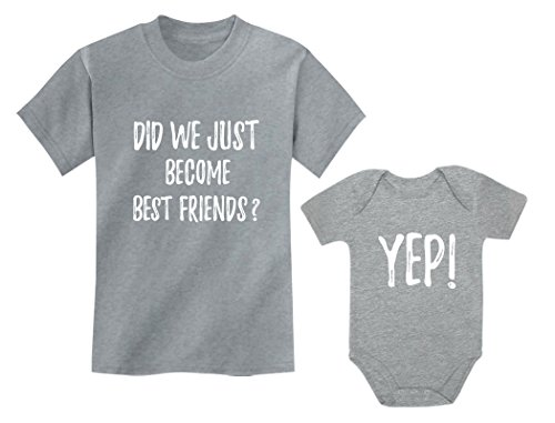 Big Brother/Sister Little Brother/Sister Set Gift for Siblings Baby & Toddler Child Gray 3T / Baby Gray NB (0-3M)