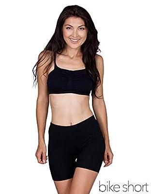 Emprella Slip Shorts   3-Pack Black Bike Shorts   Cotton Spandex Stretch Boyshorts for Yoga
