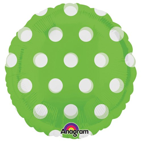 Anagram Foil Balloon 1727102 Round-Dots Lime, 18