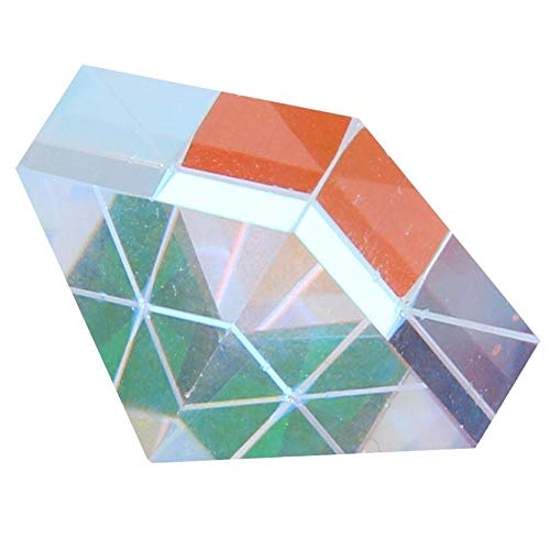 (Optical Glass, Hut and Pyramid Shaped Colored Prism RGB Prism for Teaching Research Home Office Ornaments Decoration Gift(1))