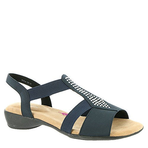 Ros Hommerson Women's Mellow Sandal,Navy Fabric,US 7 M
