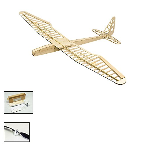 Balsa Wood Radio Remote Controlled Electric F16 Glider Sunbird Aeroplane Laser Cut Kit Wingspan 1600mm Un-Assembled for Adults;Need to Build for Flying Hobby Play (F1601C)