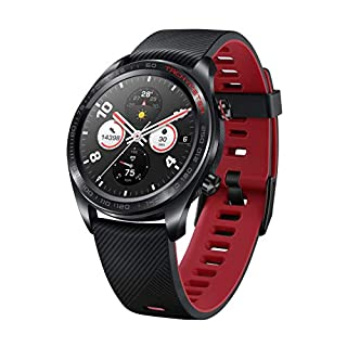 Honor-Watch-Magic-Lava-Black-Lightweight-Smart-Watch-Personal-Fitness-Mentor-Watch-Faces-Store-7-Days-Battery-Life-GPS11-Workout-Modes-Scientific-Sleep-Heart-Rate-Monitor