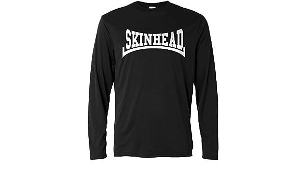 LaMAGLIERIA Camiseta de Manga Larga Hombre - Skinhead White Print - Long Sleeve 100% algodòn: Amazon.es: Ropa y accesorios