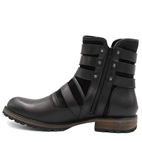 2ada2b7e6a Bota Masculina Coturno Zariff Shoes Fivelas Couro: Amazon.com.br: Amazon  Moda