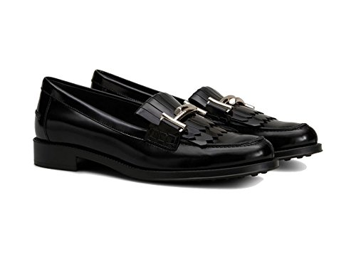 Tod's Mocassino in Pelle Nero, Donna.