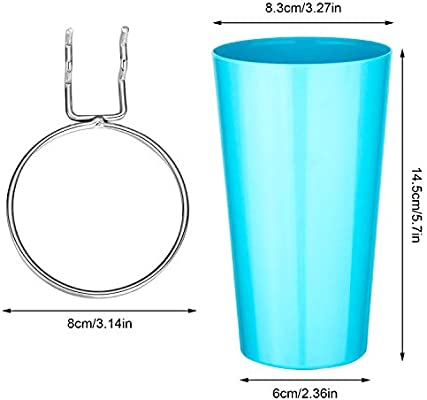 Blue with 5 Pegboard Hooks Ring Style Pegboard Hooks with Cups Pegboard Cup Holder Accessories for Organizing 4 Sets Pegboard Bins Kit