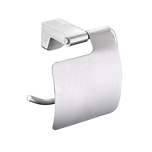 BOEN A1021 Toilet Paper Roll Holder Storage Bathroom Paper Towel Dispenser Tissue Hanger Contemporary Style Wall Mount, Solid Aluminum