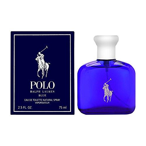 Polo Blue by Ralph Lauren for Men 2.5 oz Eau de Toilette Spray Blue 2.5 Ounce Edt
