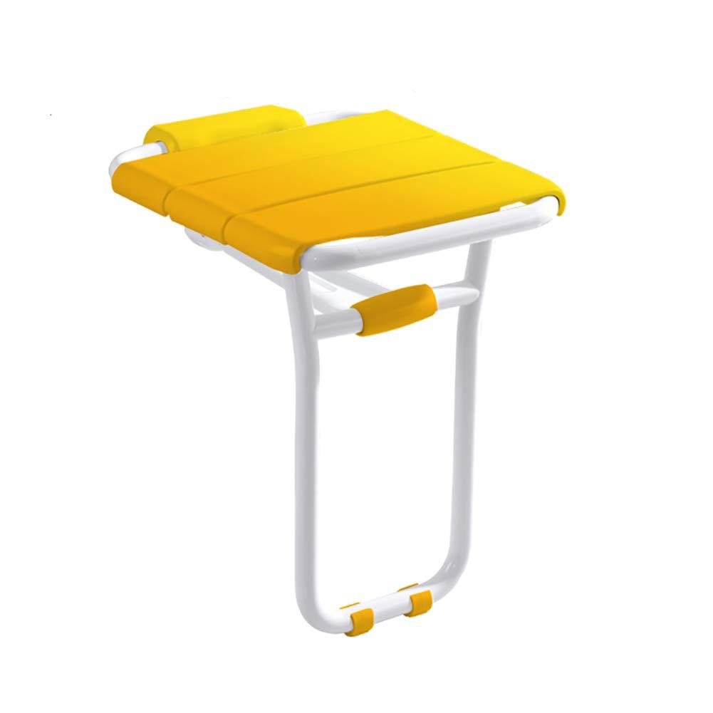 【再入荷!】 LFF- : 折りたたみ式のトイレの壁のバスタブの椅子の脚折り畳み式アンチスリップベンチのバスタブの便座 (色 : イエロー いえろ゜ いえろ゜) イエロー いえろ゜ (色 B07GBMTW6M, LUZ-光:ba54a2ab --- jlptoiture.fr