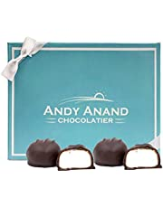 Andy Anand Dark Chocolate Vanilla Marshmallows, Amazing-Delicious-Decadent Gift Boxed & Greeting Card, Birthday, Valentine, Christmas, Mothers Fathers day, Anniversary, Wedding, Halloween (1 lbs)