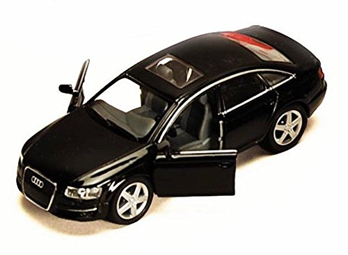 Audi Diecast Cars (Audi A6, Black - Kinsmart 5303D -1/38 scale Diecast Model Toy Car (Brand New, but NO BOX))