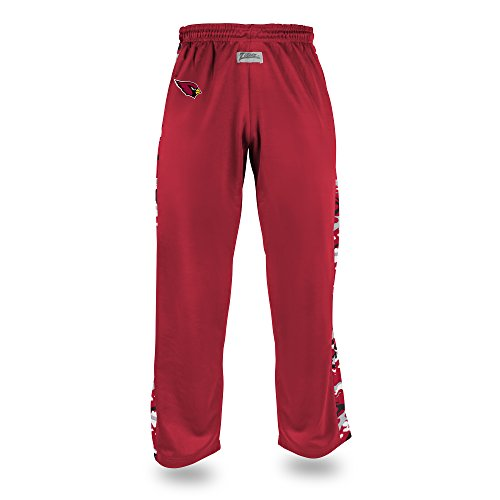 Zubaz NFL Arizona Cardinals Men's Camo Print Accent Team Logo Stadium Pants, Large, Red
