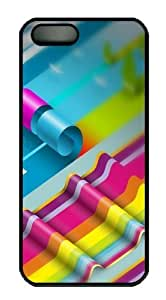 Colorful Rolls Polycarbonate Hard Case Cover for iPhone 5/5S Black by runtopwell