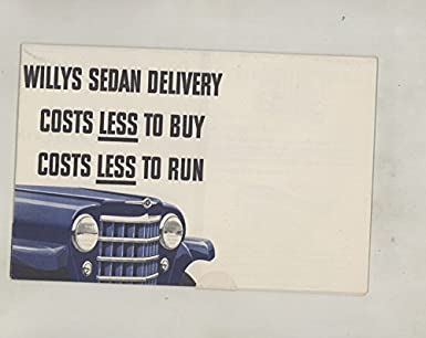Amazon com: 1950 ? Willys Sedan Delivery Mailer Brochure Poster