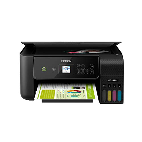 Epson EcoTank ET-2720 Wireless Color All-in-One Supertank Printer with Scanner and Copier - Black from Epson