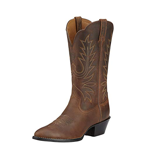 Ariat Women's Heritage Western R Toe Western Cowboy Boot, Distressed Brown, 8 C US
