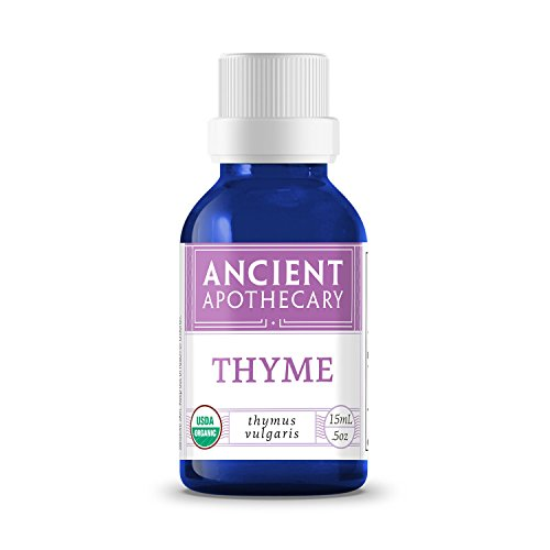 Thyme Organic Essential Oil from Ancient Apothecary, 15 mL - 100% Pure and Therapeutic Grade